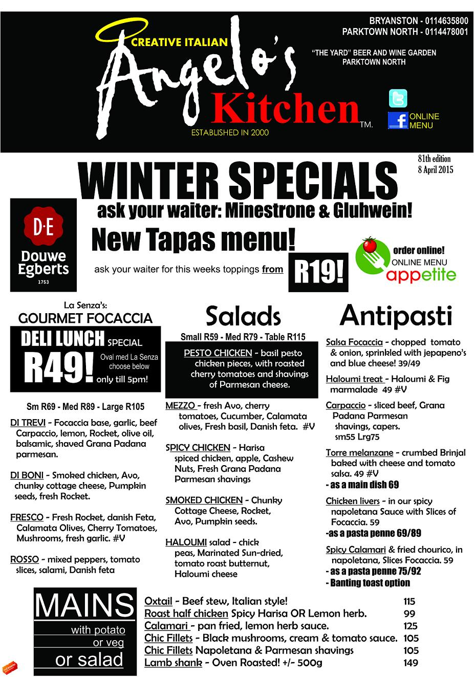 Angelos Kitchen Parktown North
