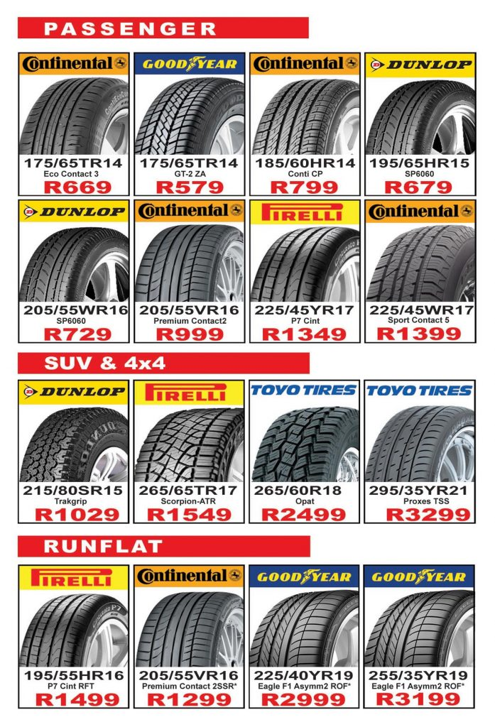Tyre and Wheel Specials and Promotions
